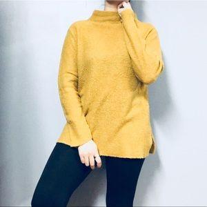 VINTAGE • Boucle Mock Neck Pullover Sweater Sz M